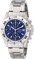 Bulova Caravelle by Men's 43B17 Stainless Steel Bracelet Blue Dial Watch