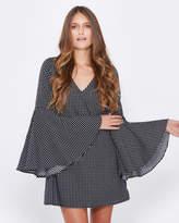 Livia Bell-Sleeve Dress