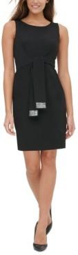 Tommy Hilfiger Sequin-Tie Sheath Dress