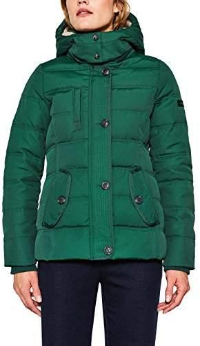Esprit Women's 097ee1g019 Jacket, (Bottle Green 385), Medium