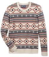 American Rag Mens Ribbed Trim Printed Pullover Sweater