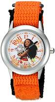 Disney Girl's 'Moana' Quartz Stainless Steel and Nylon Casual Watch