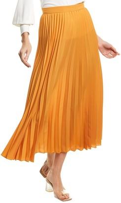 Max Mara Pleated A-Line Skirt