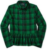 Ralph Lauren Plaid Peplum Shirt, Big Girls (7-16)