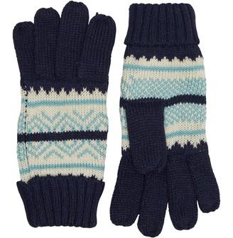 Onfire Womens Knit Gloves Navy/Ecru/Mint