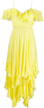 Alice + Olivia Ruffle Trimmed Dress