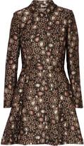 Alice + Olivia Veronika metallic brocade coat