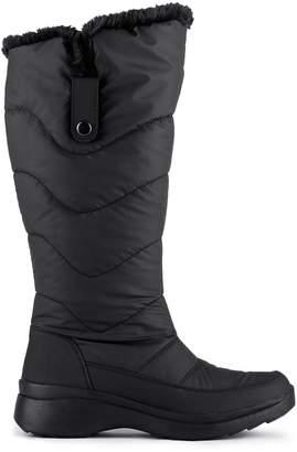 London Fog Peyton Faux Fur-Trim Waterproof Tall Boots