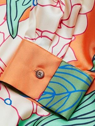 Lafayette 148 New York, Plus Size Ruxton Button-Up Silk Blouse