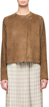 The Row Lino Suede Short Jacket