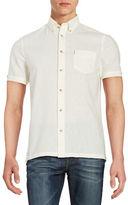 Ben Sherman Linen-Blend Sportshirt