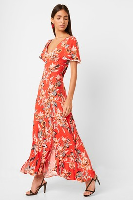 French Connection Claribel Floral V Neck Maxi Dress