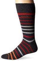 HUGO BOSS Men's Rs Design Striped Crew Socks