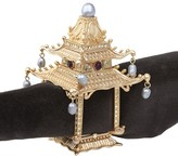 L'OBJET Gold Plated Pagoda Napkin Rings, Set of 2