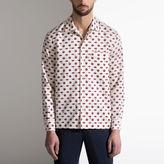 Bally Lip Print Silk Pyjama Style Shirt