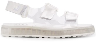 Joshua Sanders Air transparent touch-strap sandals