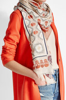 Zadig & Voltaire Printed Scarf with Cotton