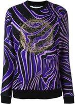 Versace 'Zebra' Medusa head sweatshirt - women - Cotton/Polyester/Spandex/Elastane/Viscose - 38
