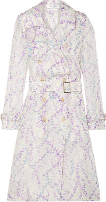 Max Mara Giro Floral-print Silk-organza Trench Coat