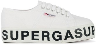Superga Branded Platform Sneakers
