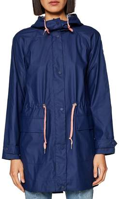 Esprit Showerproof Hooded Parka with Drawstring Waist