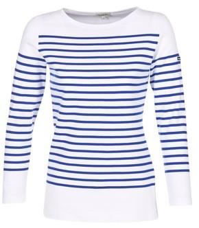 Armor Lux ROADY women's Long Sleeve T-shirt in White