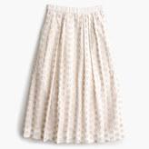 J.Crew Petite midi skirt in fringe dot