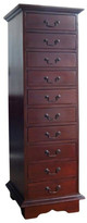 Mahogany 10 Drawer Document Chest