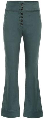 Ulla Johnson Ellis high-rise cropped jeans