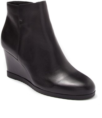 Susina Trypp Leather Wedge Bootie