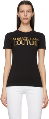 Versace Jeans Couture Black Institutional Logo T-Shirt