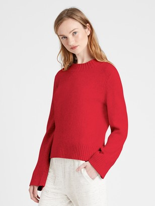 Banana Republic Petite Cotton-Blend Bell-Sleeve Sweater