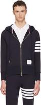Thom Browne Navy Classic Full Zip Hoodie