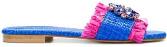 Emanuela Caruso Floral Embellished Sandals
