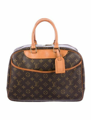 Louis Vuitton Vintage Monogram Deauville Bag Brown