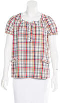 A.P.C. Plaid Short Sleeve Top