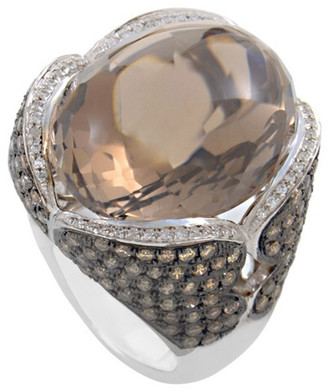 French Collection 18K 2.49 Ct. Tw. Diamond & Topaz Ring