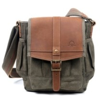 Tsd Brand Turtle Ridge Canvas Crossbody Bag