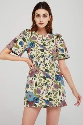 Elizabeth Floral Jacquard Dress
