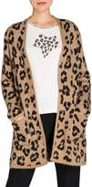 Olsen Glam Leopard-Print Cardigan