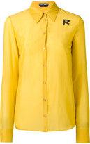 Rochas beaded logo detail shirt - women - Cotton/Silk - 42