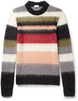 Saint Laurent - Striped Mohair-blend Sweater