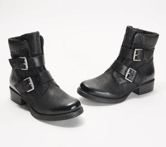 Miz Mooz Leather Buckle Ankle Boots - Niles