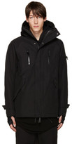 11 By Boris Bidjan Saberi Black Hooded Zip-up Jacket