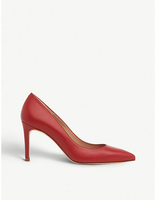 LK Bennett Floret pointed-toe leather courts