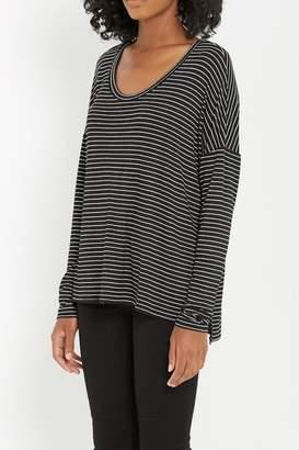 Soprano Black Stripe Comfy-Top