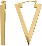 FINE JEWELRY 14K Yellow Gold Polished Triangle Hoop Earrings