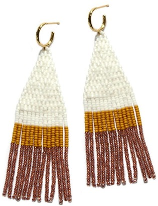 Velvet by Graham & Spencer Franja Beaded Fringe Earrings By Bluma Project