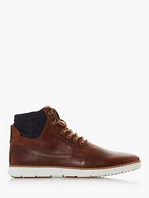 Dune Corbin Leather Chukka Boots, Tan