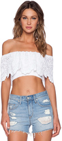 Nightcap Clothing Spanish Lace Crop Top